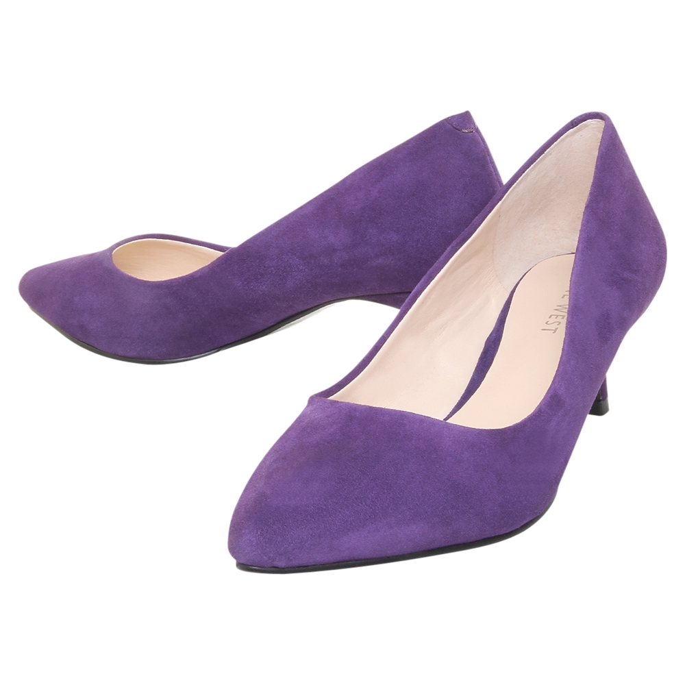 Nine west Nine West Runit Suede Kitten Heel Court Shoes Purple in ...