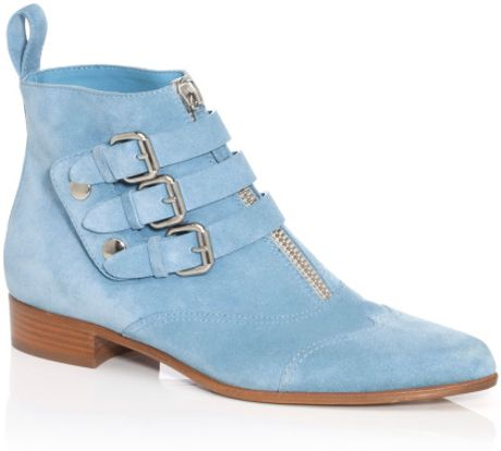 Tabitha Simmons Early Bootie in Blue (denim) - Lyst