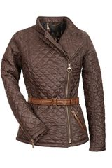 Temperley London  Willow Quilt Jacket in Brown (dark brown) - Lyst