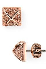 Juicy Couture Heavy Metal Stud Earrings - Lyst