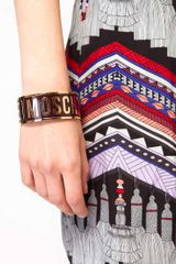 Love Moschino Large Logo Bracelet in Purple (violet) - Lyst