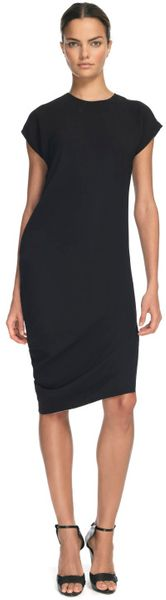 Narciso Rodriguez Black 3Ply Silk Dress in Black - Lyst