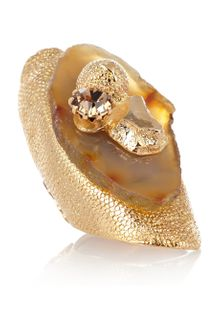 Yves Saint Laurent Chyc Agate and Crystal Ring - Lyst