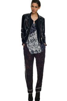 3.1 Phillip Lim Double Sided Foil Leather Tromp L'Oeil Layered Biker Jacket - Lyst