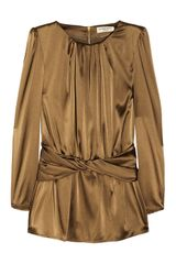 Burberry Stretch Silk Satin Top