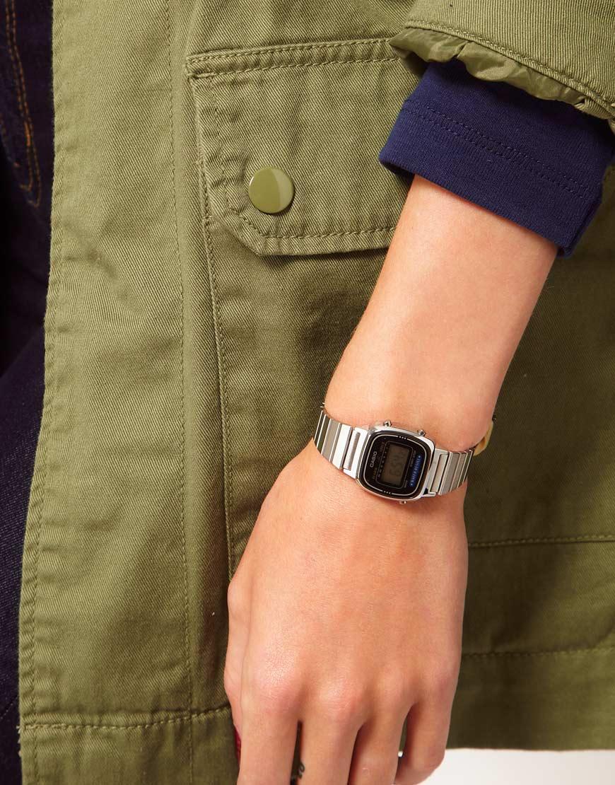 fa2011d665c Lyst - G-Shock Black Silver Mini Digital Watch in Metallic