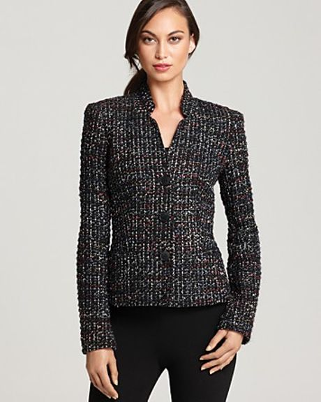 Lafayette 148 New York Cambria Tweed Jacket in Black (black multi)