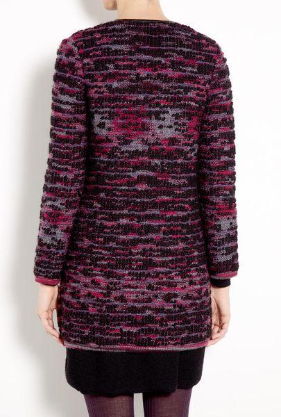 M Missoni Boucl 233 Knit Coat In Purple Lyst