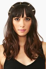 Nasty Gal Metal Spike Headband - Lyst