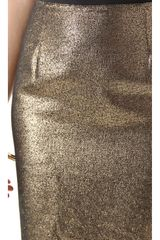 Tory Burch Brandy Skirt in Gold (black) - Lyst