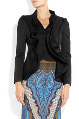 Etro Ruffle Paneled Textured Brocade Jacket in Black - Lyst