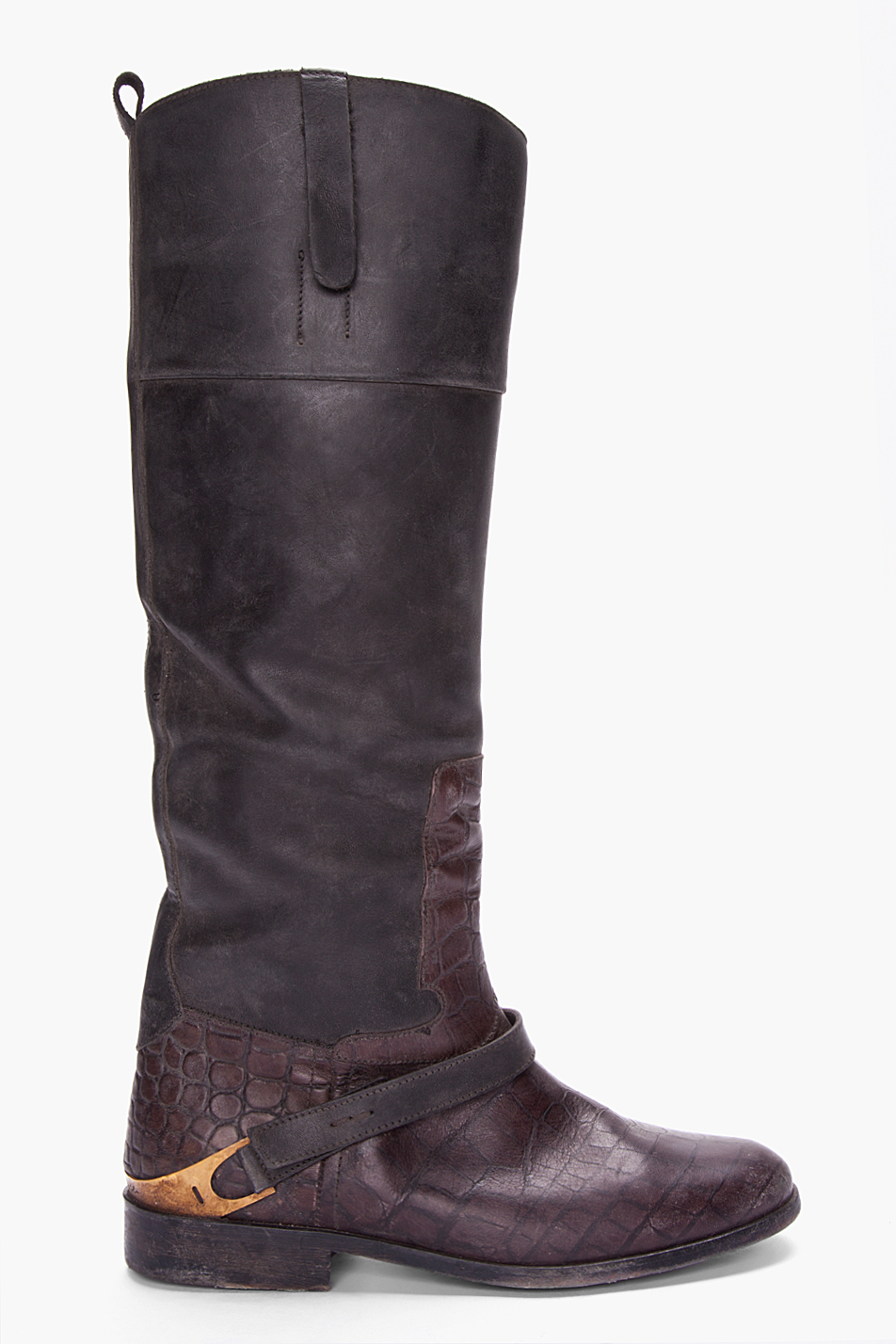 golden goose deluxe brand black knee high charlye boots in