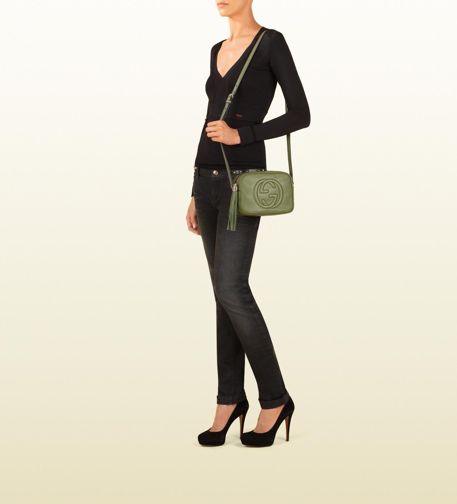 13c210793b1a Gucci Soho Green Leather Disco Bag in Green - Lyst