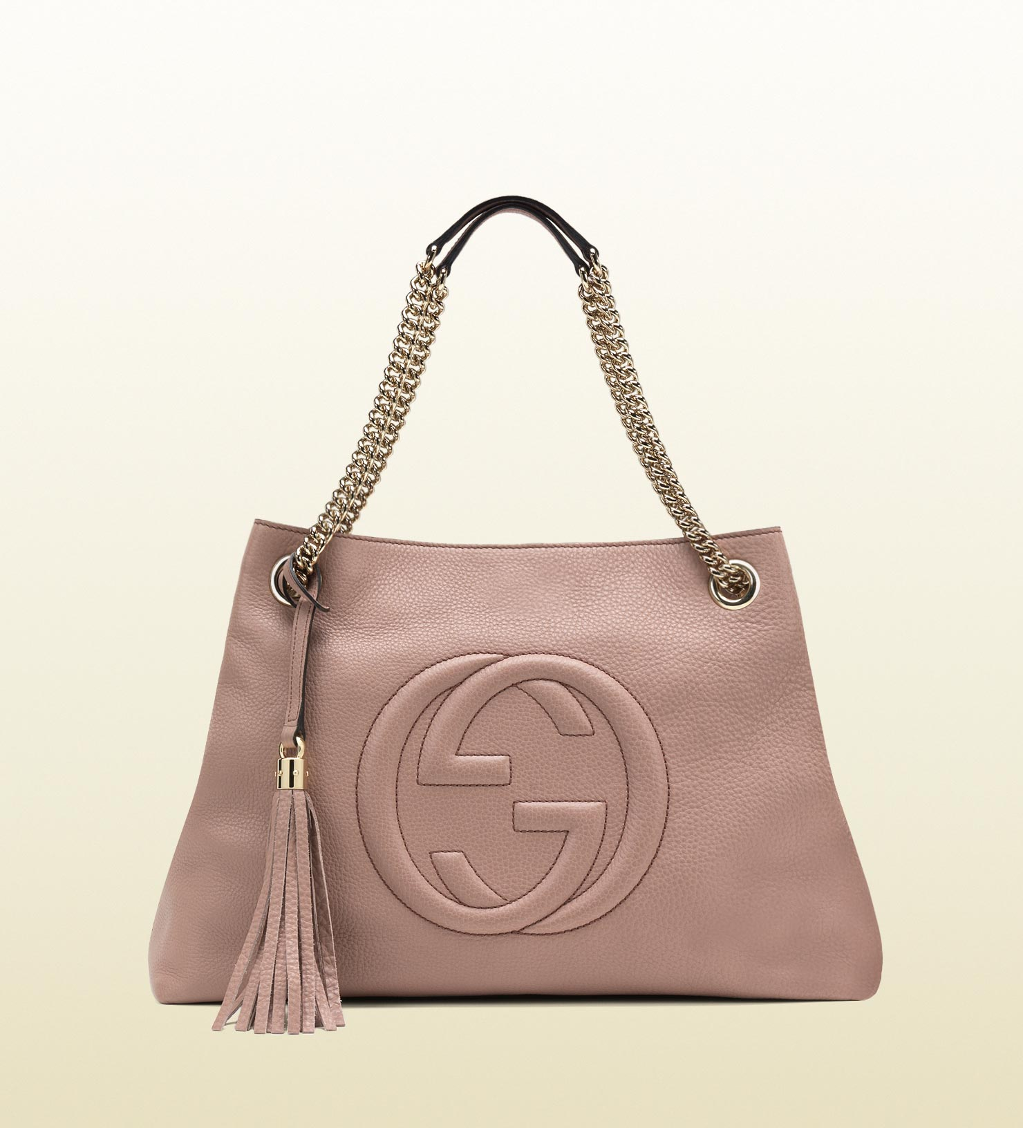 Lyst - Gucci Soho Leather Shoulder Bag in Pink