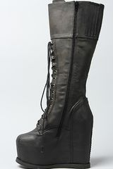Jeffrey Campbell The Lautrec Hi Boot in Black Distressed in Black - Lyst