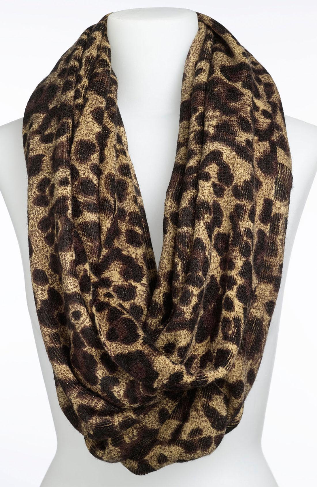 michael michael kors animal print infinity scarf in animal