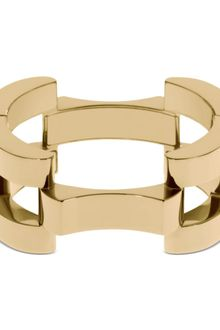 Michael Kors Gold Tone Square Link Hinged Bangle Bracelet - Lyst