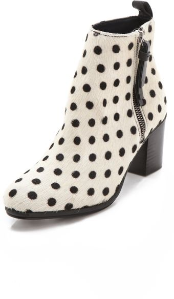 Opening Ceremony Shirley Polka Dot Haircalf Booties - Lyst