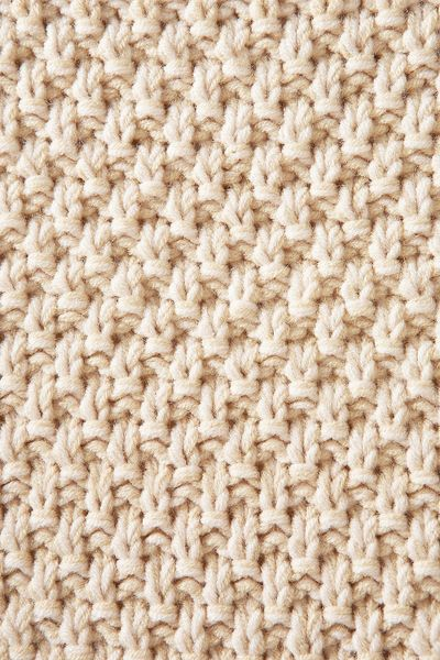 Knitting Stitches For Chunky Wool : Topshop Knitted Chunky Stitch Jumper in Beige (blonde) Lyst