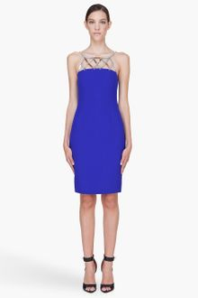 Versace Silk Cocktail Dress - Lyst