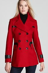 Via Spiga Elena Double Breasted Notch Collar Pea Coat - Lyst
