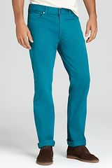 7 For All Mankind Slimmy Slim Fit in Vivid Green Jeans  - Lyst