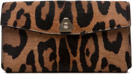 Alexander Wang Trigone Leopard Print Compact in Natural in Brown (natural) - Lyst