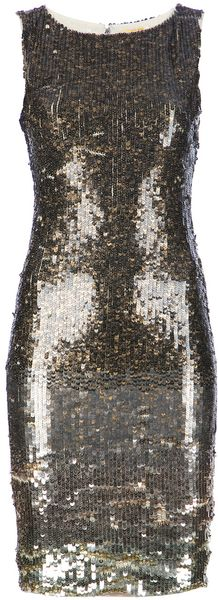 Alice + Olivia Sequinned Dress - Lyst