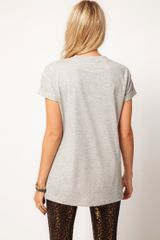 Asos Collection TShirt with Mosaic Wolf in Gray (grey) - Lyst