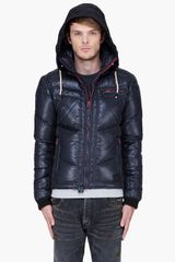 Diesel Black Padded Hooded Weroxim Jacket in Black for Men - Lyst