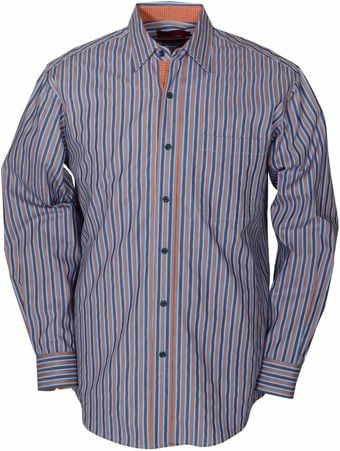 Double Two Long Sleeve Cotton Stripe Casual Shirt - Lyst