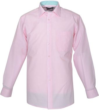 Double Two Plain Cotton Rich Formal Shirt - Lyst