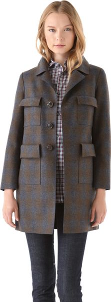 Dsquared2 Melania Pencil Coat in Blue (navy) - Lyst