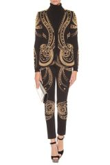 Emilio Pucci Metallic Bead Embroidered Blazer in Black - Lyst