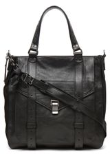 Proenza Schouler Ps1 Large Tote Leather in Black - Lyst