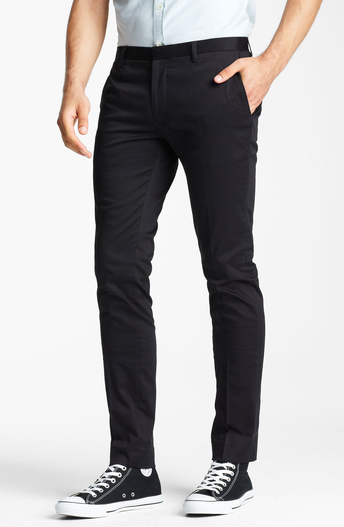Lyst Topman Ultra Skinny Flat Front Trousers In Black