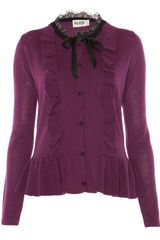 Alice By Temperley Gloria Cardigan in Purple (berry) - Lyst