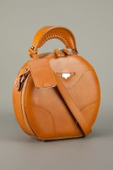 Carven Small Box Bag in Orange (brown) - Lyst