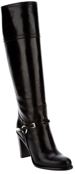 Dior Etrier Boot in Black - Lyst