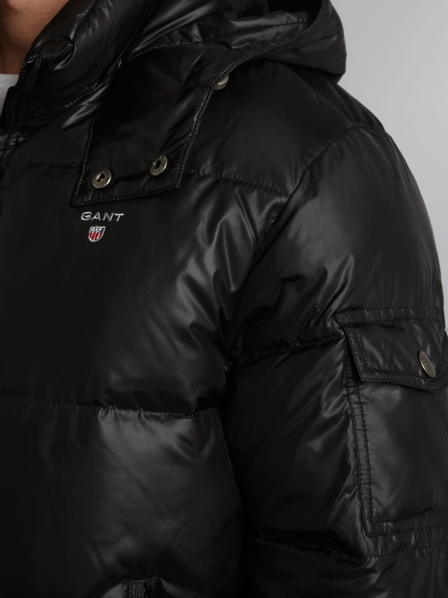 Gant preppy down jacket black