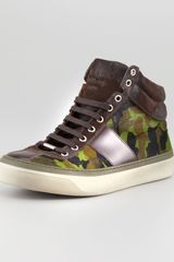 Jimmy Choo Camouflage Calf Hair Hightop Sneaker - Lyst