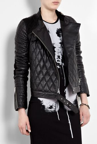 McQ by Alexander McQueen Quilted Leather Motorcycle Jacket - Lyst