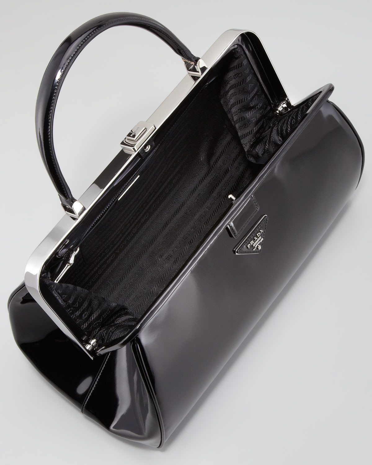 09f5fba0aec8 ... inexpensive lyst prada spazzolato doctors bag in black ac6a6 e7eab