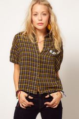 Ralph Lauren Plaid Shirt with Bead Detail