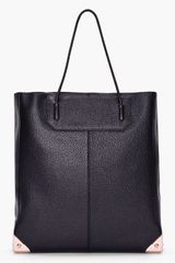 Alexander Wang Black Leather Prisma Tote - Lyst