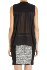 Alexander Wang Sheer Back Tank in Black - Lyst