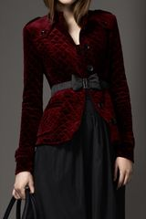 Burberry Multiquilt Velvet Jacket - Lyst