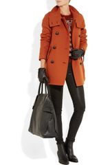 Burberry Brit Doublebreasted Woolblend Coat in Orange - Lyst