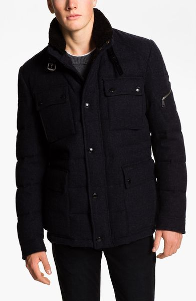 Burberry Quilted Down Field Jacket In Blue For Men True