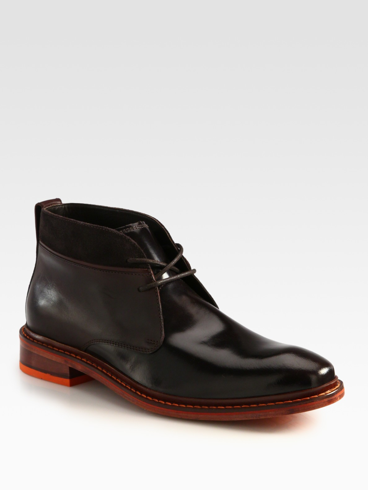 cole haan air colton winter chukka boot in brown for